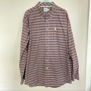 CINCH Maroon Button Down Western Shirt
